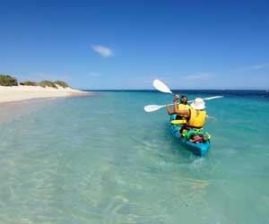 Beach access at Novotel Ningaloo Resort