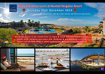 Christmas Lunch at Novotel Ningaloo